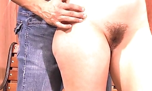 Horny bitch rubs her clit greatest extent getting anally screwed