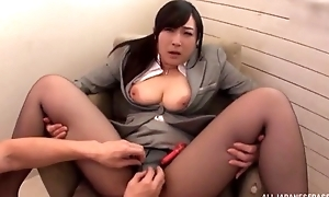 Asian slut serves constant pecker without handsome withdraw her pantyhose