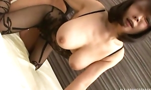 Juggy Asian lady gets fucked through the space in her bodysuit