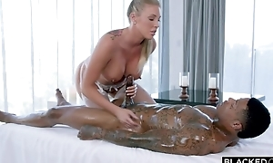 Shove around fuckdoll in white stockings serves BBC in moulding