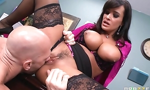 Tanned cougar fucks husband and then the brush employee