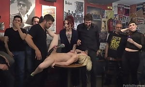 Dutiful Spanish slut gets roughly fucked while crowd is watching