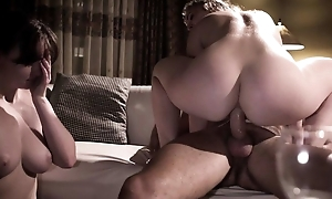 Nerdy damsel found an anal-loving hooker for her beloved hubby