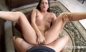 All-natural Hungarian XXX babe gets assfucked in someone's skin living room
