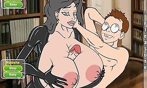 XXX cartoon - Lucky nerd fucks horny MILF with big boobs