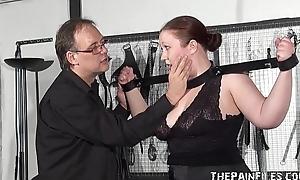 Chubby Blindfolded Amateur Slave RosieB Whipped