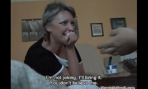 Horn-mad mature mom sucking dick for some