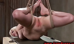 Hogtied bdsm suspended and whipped unfamiliar say no to master