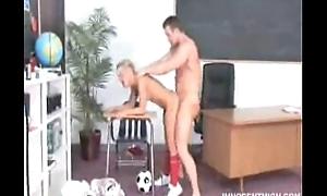 Aubrey Adams gets their way snatch punished by the dean
